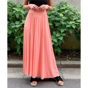 スカート フレアマキシスカート
