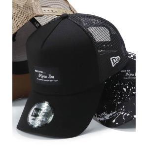 帽子 キャップ オンスポッツ別注 ニューエラ メッシュキャップ 9FORTY BLACK PATCH NEW ERAの画像