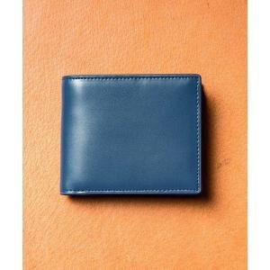 財布 コードバン調/カーボン レザー box型小銭入れ 二つ折り財布