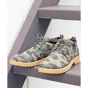 ブーツ [定番]4アイレットローカットレースアップヌバックシューズ