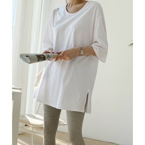 tシャツ Tシャツ NANING9(ナンニング)サイドスリットオーバーTシャツ