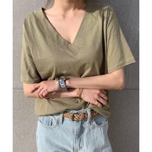 tシャツ Tシャツ NANING9(ナンニング)Vネック半袖Tシャツ