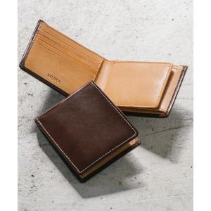 財布 イタリアン/フルグレイン レザー スキミング防止機能付 二つ折り財布の画像