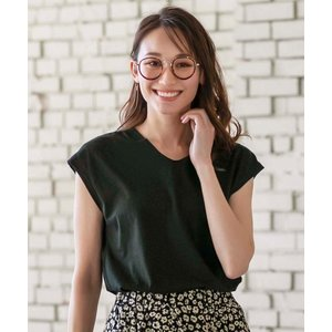 tシャツ Tシャツ 綿混素材Vネックプルオーバー