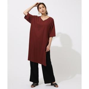 スリットVネックドレスTシャツ SLIT V/N T DRESS