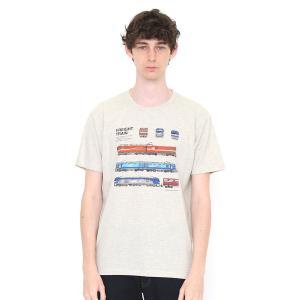 コラボレーションTシャツ/貨物列車(でんしゃのずかん)(ヘザーナチュラル)