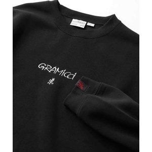 Gramicci ×FREAK'S STORE/グラミチ 別注ランニングマン刺繍クルーネックスウェッ...