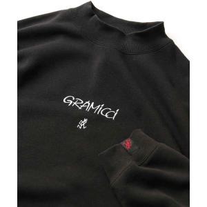 Gramicci ×FREAK'S STORE/グラミチ 別注ランニングマン刺繍モックネックスウェッ...