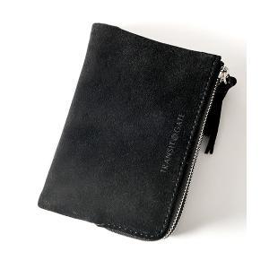 TransitGate G5 スエード ダブルジップ二つ折り財布