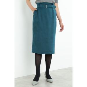 スカート フェイクスエードタイトスカート