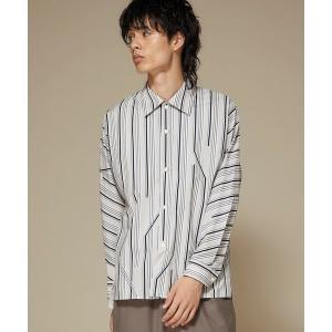 シャツ ブラウス 【ETHOSENS】ツイストストライプシャツ/E119-203