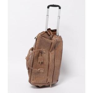 スーツケース パイソン柄・パイソン柄型押しボストンバッグ×キャリーバッグ