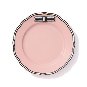 食器 リボン プレート ピンク