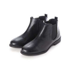 ブーツ 履き心地やわらか、美シルエットサイドゴアブーツ