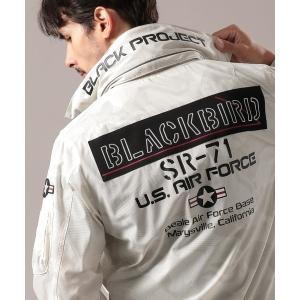 ジャケット ミリタリージャケット ブラックバード スタンドジップ ジャケット/BLACK BIRD ...