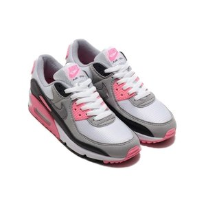 NIKE WOMENS AIR MAX 90 (WHITE/PARTICLE GREY-ROSE-B...