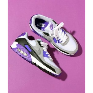 NIKE WOMENS AIR MAX 90 (WHITE/PARTICLE GREY-HYPER ...