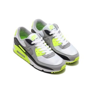 NIKE AIR MAX 90 (WHITE/PARTICLE GREY-VOLT-BLACK) 【...