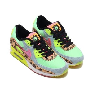 NIKE W AIR MAX 90 LX (ILLUSION GREEN/SUNSET PULSE-...