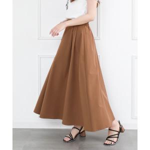 スカート 【WEB限定】タックロングスカート/フレアスカート