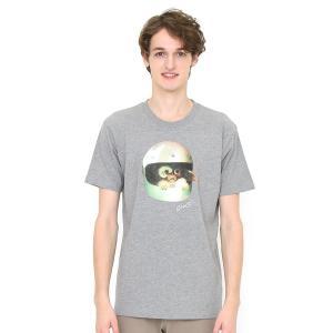 コラボレーションTシャツ/ヘルメット(グレムリン)(ヘザーグレー)