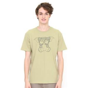 コラボレーションTシャツ/ギズモハニカミ(グレムリン)(サンドグリーン)