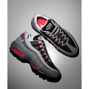 NIKE AIR MAX 95 ESSENTIAL (TRACK RED/WHITE-PARTICL...