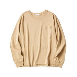【2020SS】LOOSE T-SHIRT/クルーネックポケット付きロングTシャツ【UNISEX】◯...