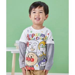 tシャツ Tシャツ 【アンパンマン】半袖にも長袖にもなる!スター柄袖取外し長袖T