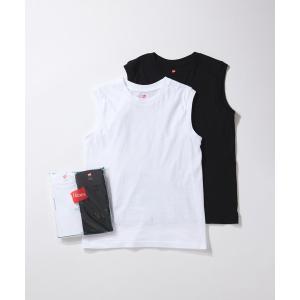tシャツ Tシャツ 【Hanes for BIOTOP】Sleeveless T-Shirts(ホワ...