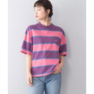 tシャツ Tシャツ 【LEE/リー】マルチボーダーTシャツ ワイポイント 刺繍 ユニセックス ビッグ...