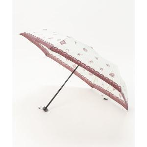 折りたたみ傘 アンティークストライプ柄折りたたみ傘