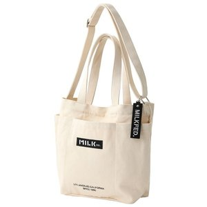 トートバッグ バッグ BAR AND UNDER LOGO BIG CANVAS BAG