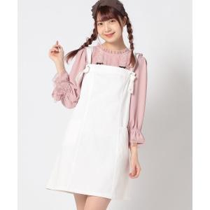 【CANDY】ロゴジャンパースカート