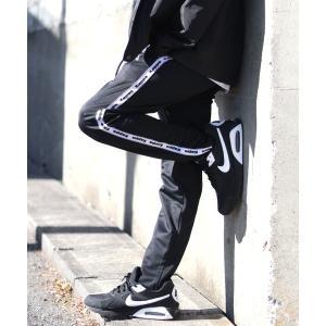 パンツ 【セットアップ対応】Kappa◆サイドラインジャージトラックパンツ/ジョガーパンツ