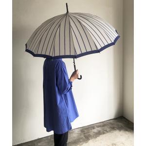 傘 NT:16本骨 モダンストライプ アンブレラ 長傘