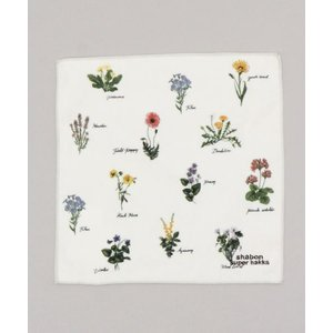 タオル ハンカチ 野の花図鑑プリントハンドタオル