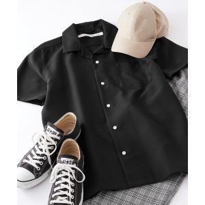 シャツ ブラウス Anchor Smith/アンカースミス ポリトロオープンカラー半袖シャツ
