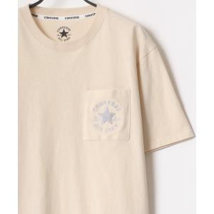 tシャツ Tシャツ CONVERSE/コンバース シューズ ロゴ ワンポイント 刺繍 ポケット Tシ...