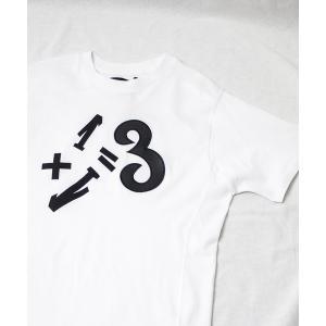 tシャツ Tシャツ 【1PIU1UGUALE3 RELAX】1+1=3ワッペンTシャツ / UST-...