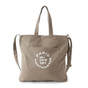 トートバッグ バッグ 2wayロゴキャンバストートバッグ