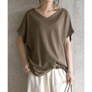 tシャツ Tシャツ BeコルテVネックドルマンカットソー(半袖)