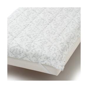 ベッド 寝具 ふわろ ベッドパッド オーナメント ダブル グレー