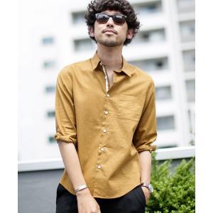 シャツ ブラウス 《WEB限定》フレンチリネンレギュラーカラーシャツ七分袖