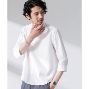 シャツ ブラウス FLOW LINEN スキッパーシャツ 7分袖