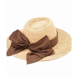 帽子 ハット CONTROL FREAK(コントロールフリーク)リボンつば広ハット
