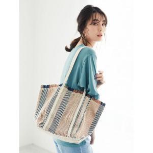 トートバッグ バッグ ・キャンバス織り雑材トートバッグ*