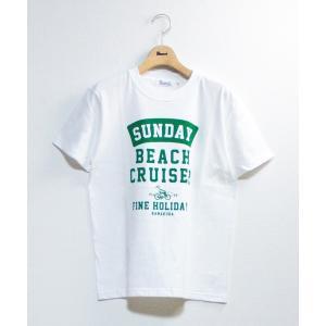 tシャツ Tシャツ 【SUNDAY BEACH CRUISER】カーブカコミロゴ半袖Tシャツ