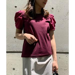tシャツ Tシャツ 異素材パワーショルダープルオーバー
