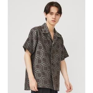 tシャツ Tシャツ 【ETHOSENS】ロープパターンショートスリーブシャツ